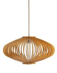 Bayron  580mm Natural Cane Timber Pendant