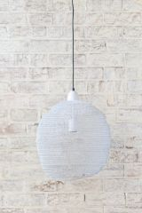 Crochet Ball White LAM104 Pendant