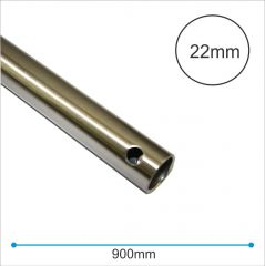 900mm Brushed Chrome Fan Extension Rod